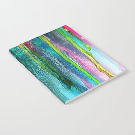 Rainbow Rain - Alcohol Ink Painting Notebook