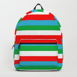 Djibouti Uzbekistan Equatorial Guinea flag stripes Backpack