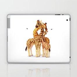 Cute giraffes loving family Laptop & iPad Skin