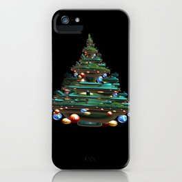 Fractal Christmas Tree iPhone Case