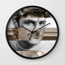 Michelangelo's David & Marlon Brando Wall Clock