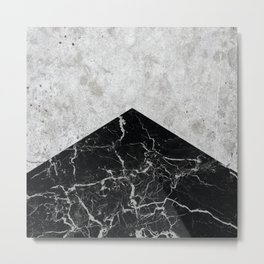 Concrete Arrow - Black Granite #844 Metal Print