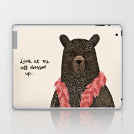 Bear Dress Up Boa Laptop & iPad Skin