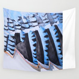 Blue Jay Wing Wall Tapestry