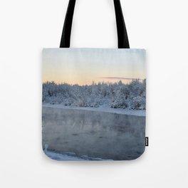 Steamy Chena River Tote Bag