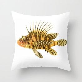 Zebra Lionfish Throw Pillow