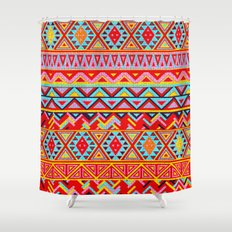 India Style Pattern (Multicolor) Shower Curtain
