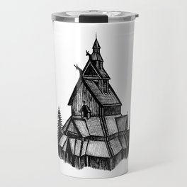 Borgund Stave Church Travel Mug
