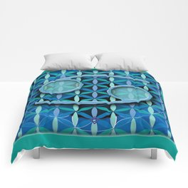 Flower of Life CANCER Astrology Design Comforters