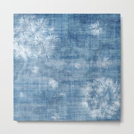 Dandelions over blue Metal Print