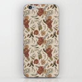 Antique Floral Pattern iPhone Skin