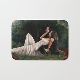 The Woods Are Lovely, Dark and Deep Bath Mat