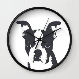Boston Terrier Pop Art Wall Clock