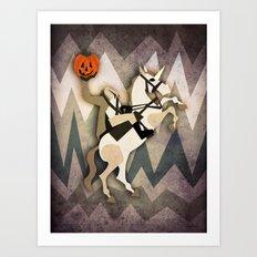 Headless Unicornman Art Print