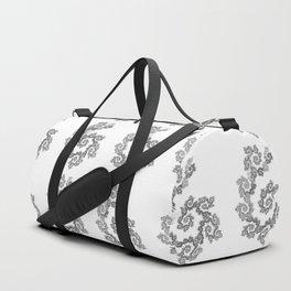 Dancing flowers in black Duffle Bag
