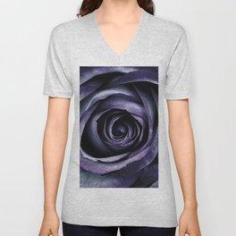Blue Purple Rose Flower Unisex V-Neck