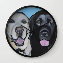 Indie & Daisy the labs Wall Clock