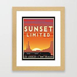 Vintage poster - Sunset Limited Framed Art Print