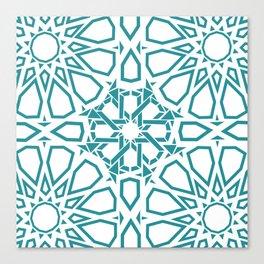 Moroccan Mosaic Blue Canvas Print