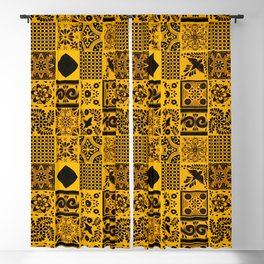 Anthropologie Bohemian Moroccan Yellow Traditional Artwork (N27). Blackout Curtain