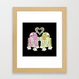 R2D2 DROID LOVE Framed Art Print