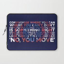 Civil War Quote Laptop Sleeve