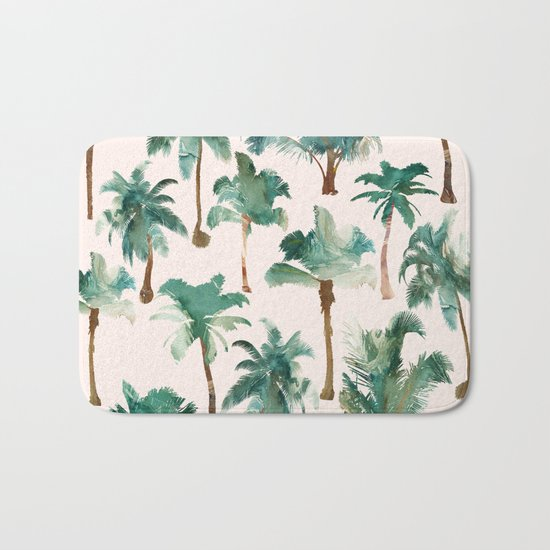Palm Trees Pattern Bath Mat