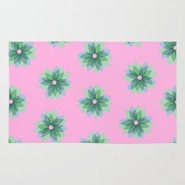 Geo Spring Flowers 03 Rug