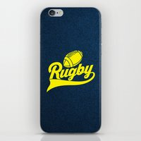 rugby iPhone & iPod Skins featuring RUGBY by frail