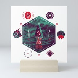 It fell from the stars, It rose from the sea Mini Art Print