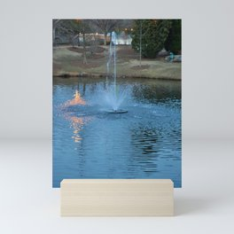 Night fountain Mini Art Print
