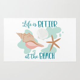 Shells - Life is Better at the Beach Rug