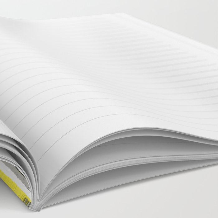 Yellow Rising - abstract stripes in yellow, grey, black & white Notebook