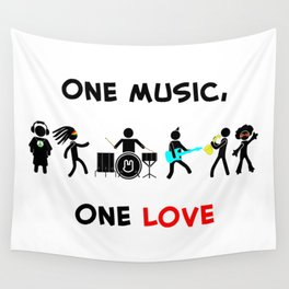 One Music, One Love Wall Tapestry