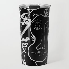 Variations on the Theme of the Human Face Travel Mug