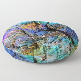 Nature Abstract Floor Pillow