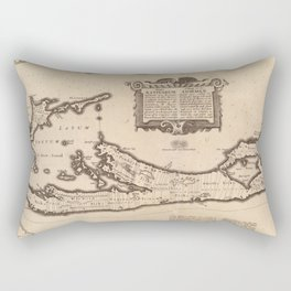 Vintage Map of Bermuda (1626) Rectangular Pillow