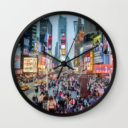 Times Square Tourists Wall Clock