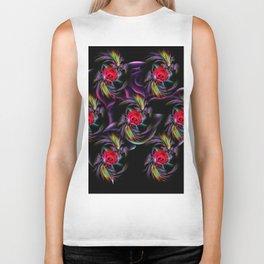 Flowers magic roses 5 Biker Tank