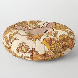 Retro Floral Piggy Floor Pillow
