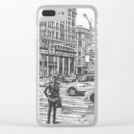 New York Taxis Clear iPhone Case