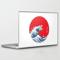 kaiju Laptop & iPad Skins featuring Hokusai kaiju by Marco Mottura - Mdk7