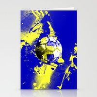sweden Stationery Cards featuring football Sweden  by seb mcnulty