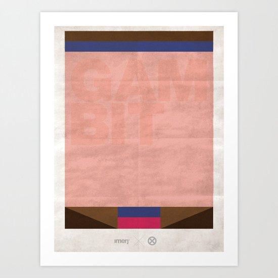 FLAT HEROES - GAMBIT Art Print