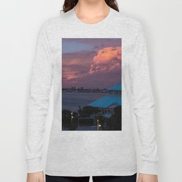 Sunset on the coast of Mar del Plata Long Sleeve T-shirt