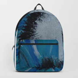 Daisy on Weathered Wood Backpack