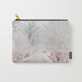 The Winter Road in the Suburb. Carry-All Pouch