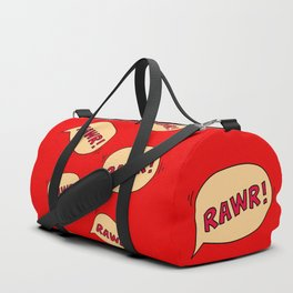 Rawr speech bubble Duffle Bag