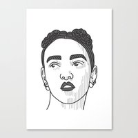 fka twigs Canvas Prints featuring FKA Twigs by Isometric Designs