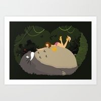 Love my neighbor Art Print
